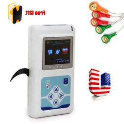 24 Hours Dynamic ECG Holter EKG Holter Monitor 3-Channel Rec