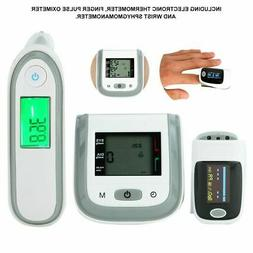3Pcs Electronic Thermometer+Fingertip Pulse Oximeter+Wrist S