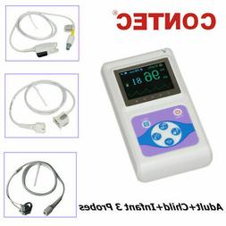 Contec CMS60D OLED Handheld Pulse Oximeter with Adult, Paedi