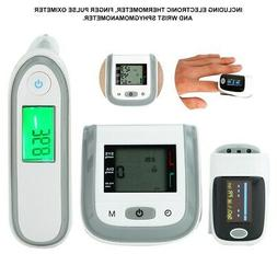 Electronic Thermometer + Fingertip Pulse Oximeter + Wrist Sp