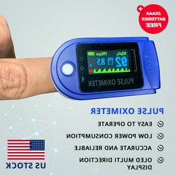FDA/CE Finger Tip Pulse Oximeter with 2 x AAA FREE Batteries