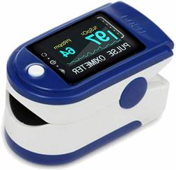 Fingertip Pulse Oximeter, Rotatable OLED Display to Show Wav