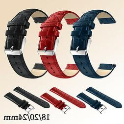 Genunie Leather Strap Replacement Watch Band Wrist Strap for