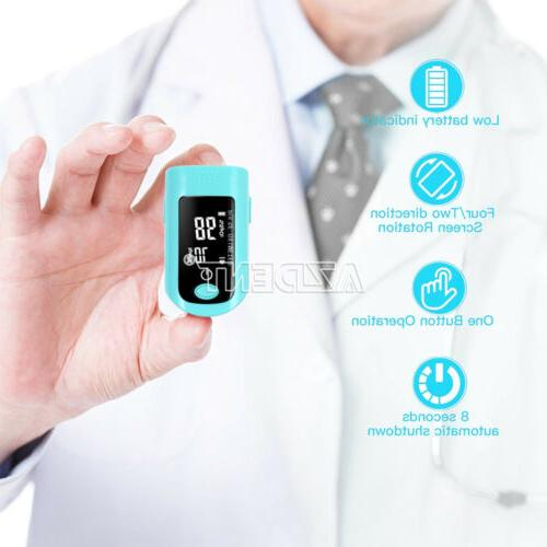 4 Colors OLIECO Finger Pulse Oximeter ABS LED