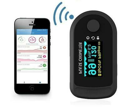 bluetooth Fingertip Pulse Blood monitor Spo2 PR PI Android