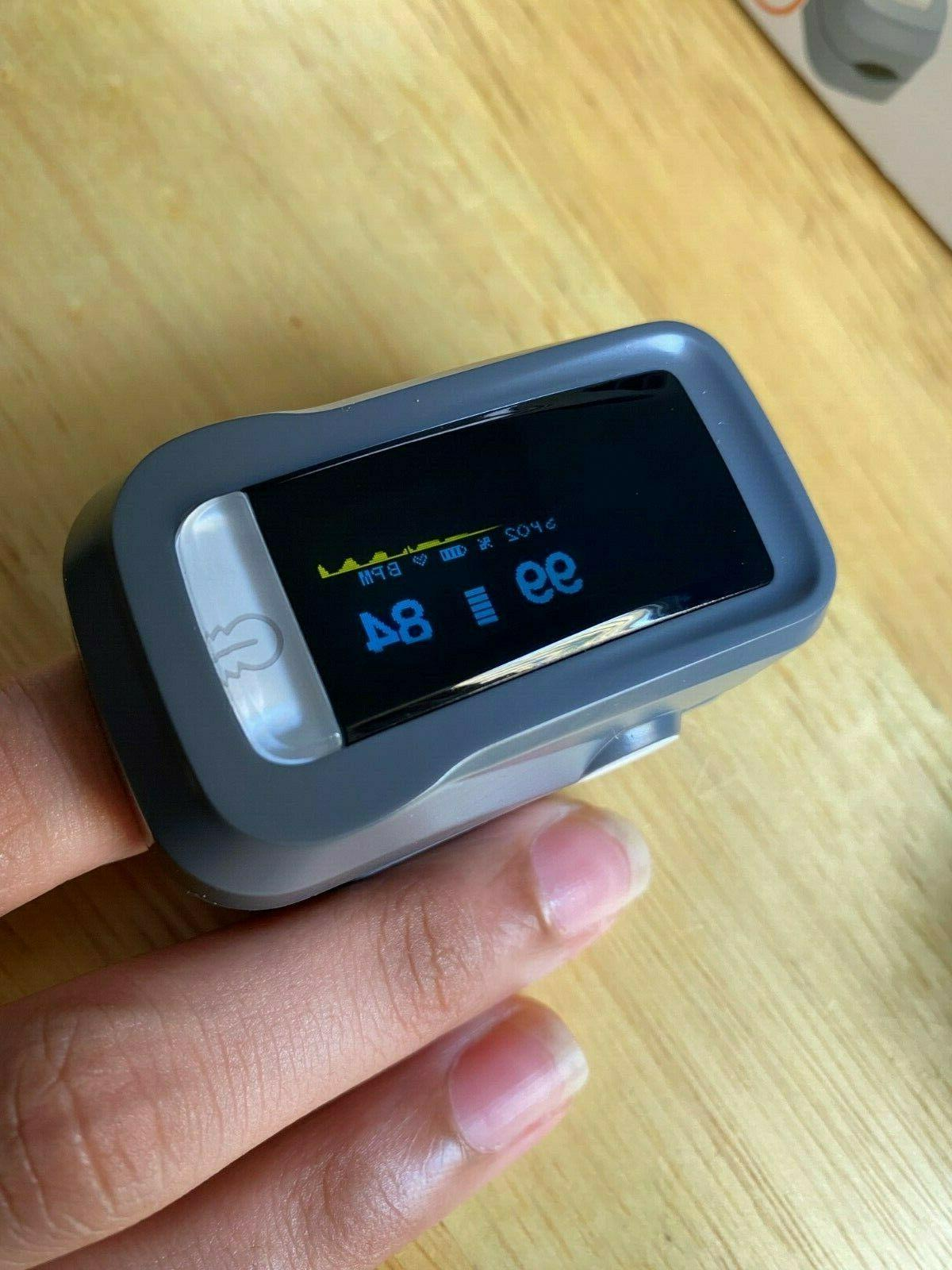 Finger Pulse Blood Oxygen SpO2 Monitor PR Heart Rate FDA