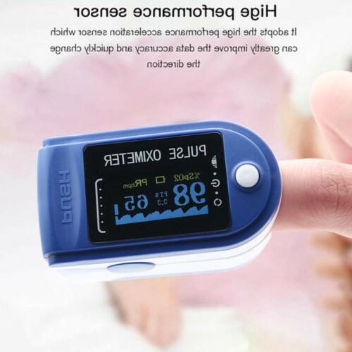 LED Pulse Oximeter Blood Oxygen Meter Monitor O2 Heart Rate Blood