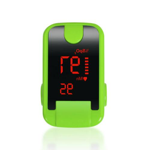 Portable Tip Pulse Oximeter Blood One Button Operation display