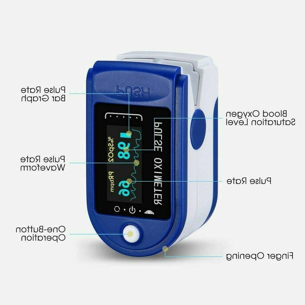Pulse Oximeter Oxygen PI Rate FDA Approved