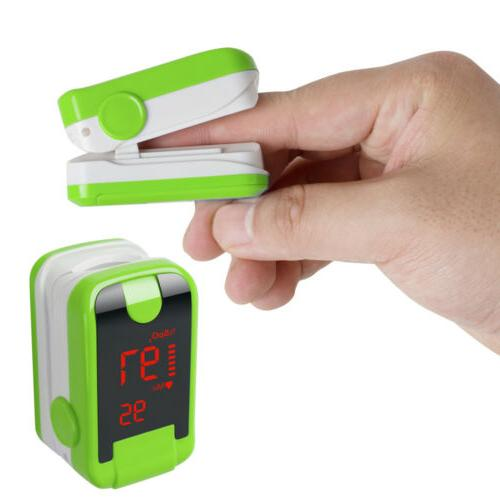 Portable Pulse Oximeter Button Operation LED display