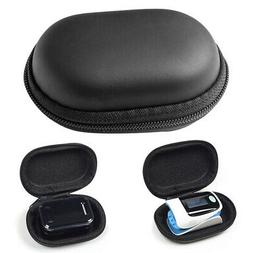 Portable Durable Oval Fingertip Pulse Oximeter Storage Box P