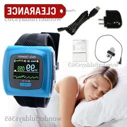 Wrist Pulse Oximetry Oximeter 24 hours Rcorder monitor with